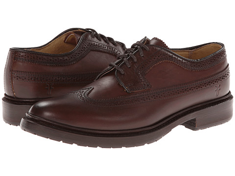 Frye - James Lug Wingtip (Chocolate Smooth Full Grain) Women