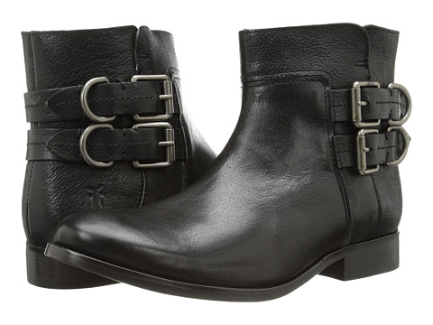 Frye - Molly D Ring Short (Black Hammered Full Grain) Cowboy Boots