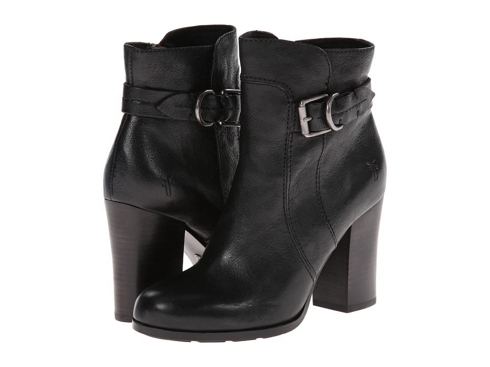 Frye - Parker D Ring Short (Black Hammered Full Grain) Cowboy Boots