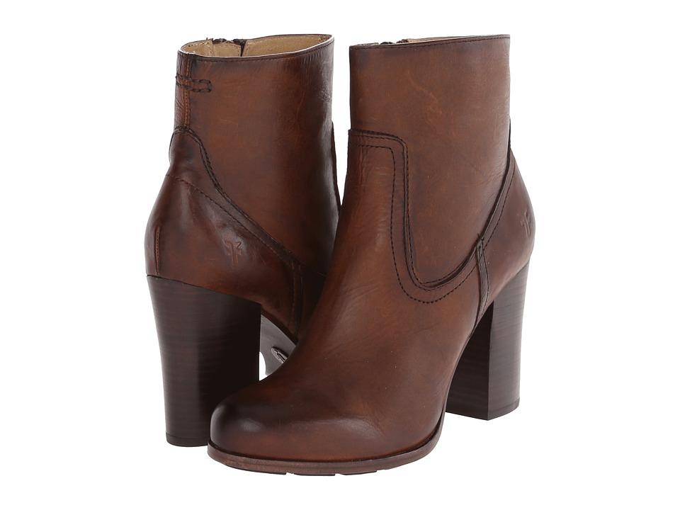 Frye Parker Short (Dark Brown Antique Pull Up) Cowboy Boots