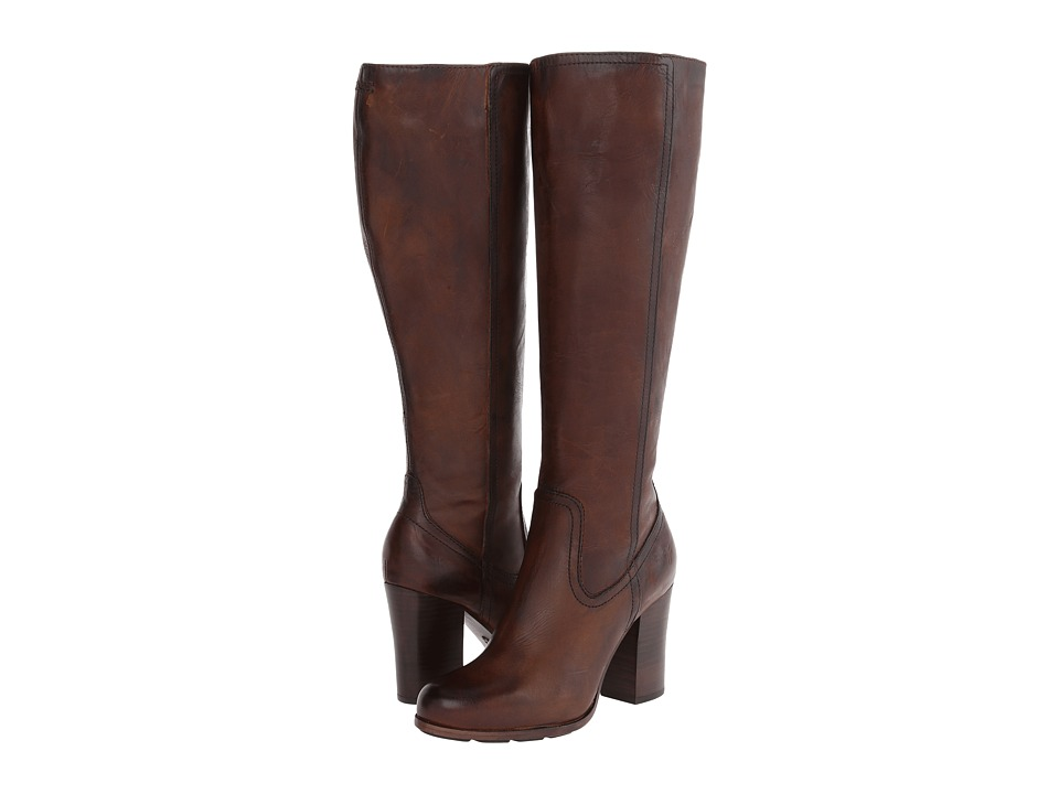 Frye - Parker Tall (Dark Brown Antique Pull Up) Cowboy Boots