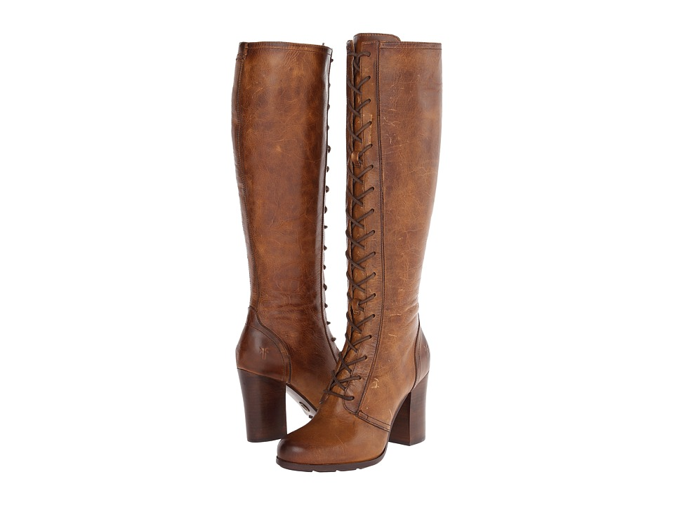 Frye - Parker Tall Lace Up (Tan Antique Pull Up) Women's Lace-up Boots