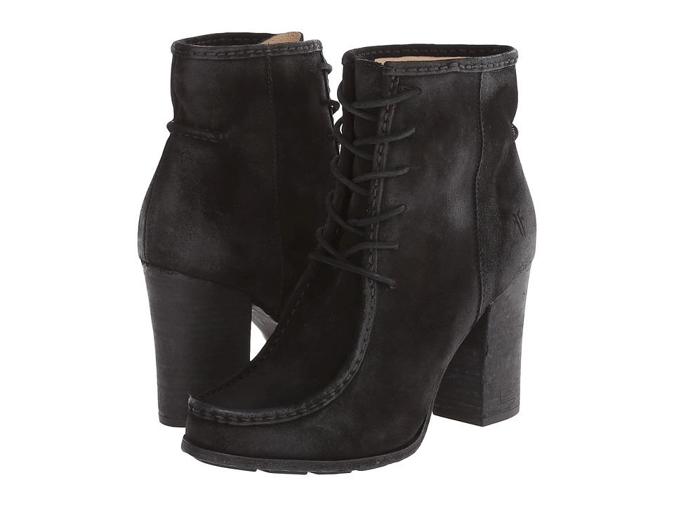 Frye - Parker Moc Short (Black Oiled Suede) Cowboy Boots