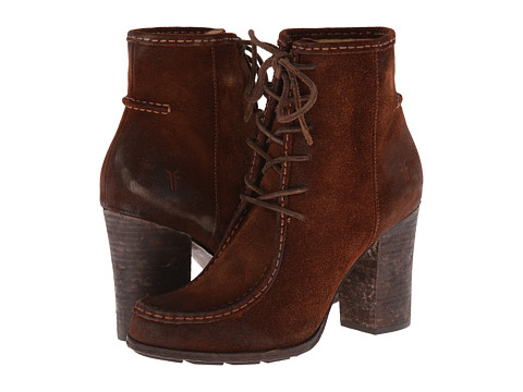 Frye - Parker Moc Short (Brown Oiled Suede) Cowboy Boots