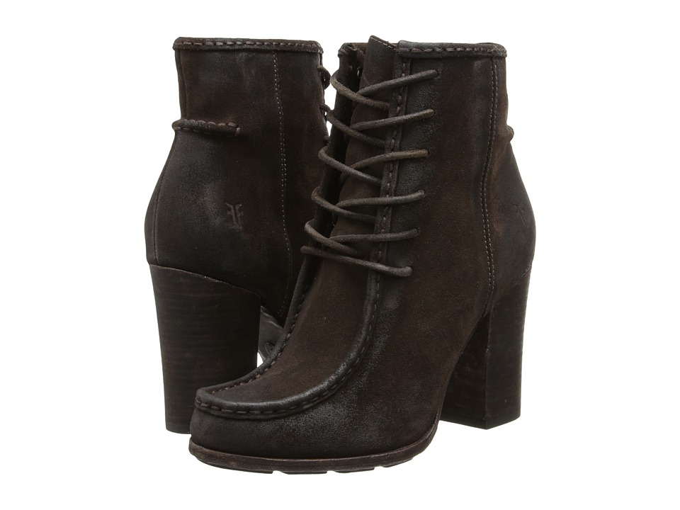 Frye - Parker Moc Short (Charcoal Oiled Suede) Cowboy Boots
