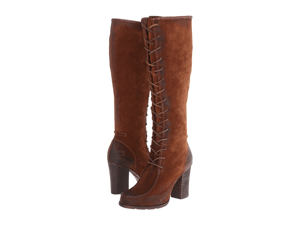 Frye - Parker Moc Tall (Brown Oiled Suede) Cowboy Boots