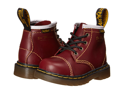 Dr. Martens Kid's Collection - Buster B Capper Boot (Toddler) (Cherry Red Softy T) Boys Shoes