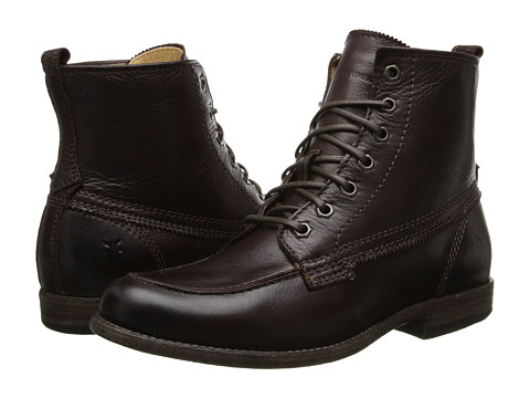Frye - Phillip Work Boot (Dark Brown Soft Vintage Leather) Women