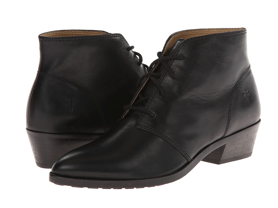 Frye Ruby Chukka (Black Smooth Vintage Leather) Women