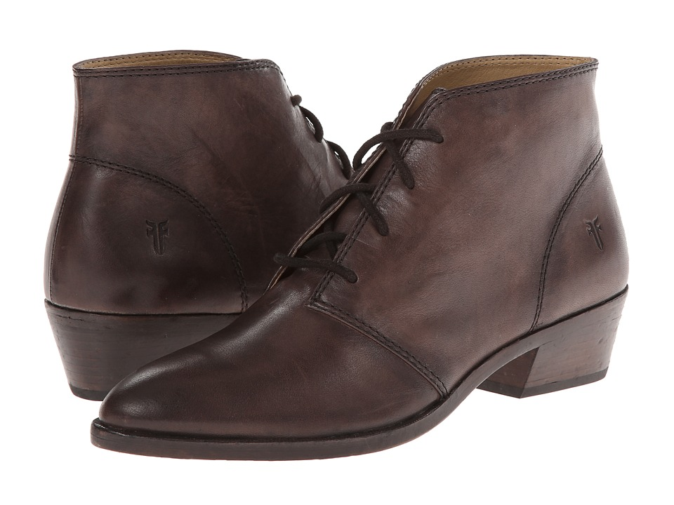 Frye - Ruby Chukka (Charcoal Vintage Leather) Women's Lace-up Boots