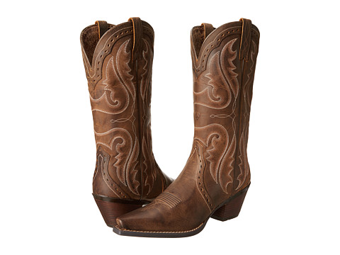 Ariat - Heritage Western X-Toe (Distressed Brown) Cowboy Boots