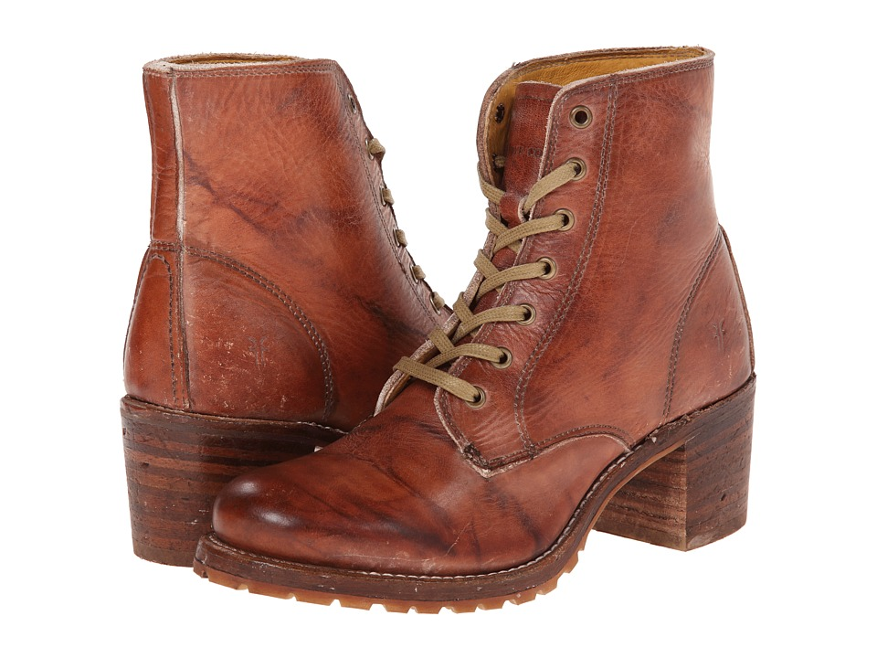 Frye - Sabrina 6G Lace Up (Saddle Montana Stone Wash) Women's Lace-up Boots