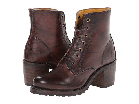 Frye - Sabrina 6G Lace Up (Walnut Montana Stone Wash) Women's Lace-up Boots