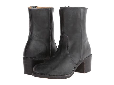 Frye - Sabrina Mid Inside Zip (Black Montana Stone Wash) Cowboy Boots