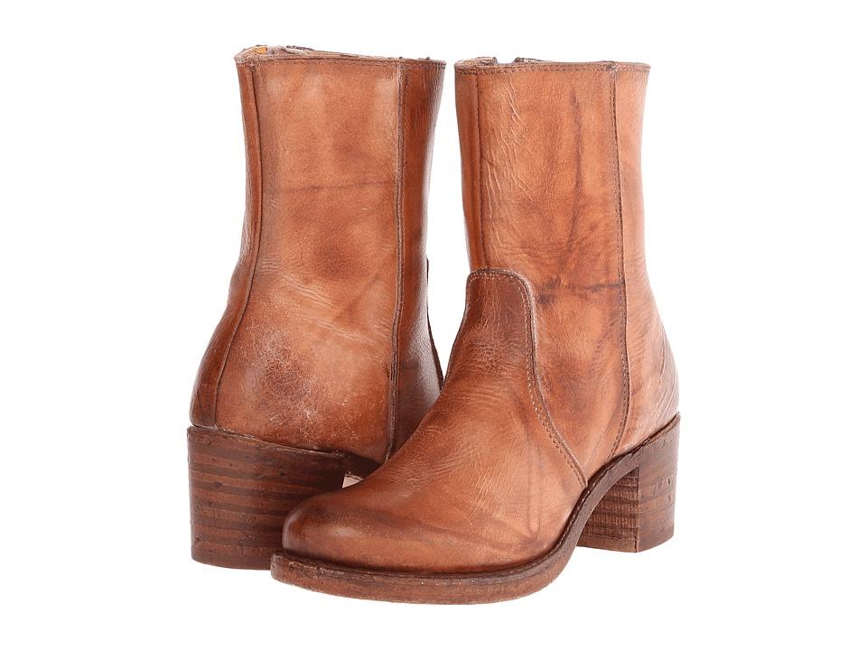 Frye - Sabrina Mid Inside Zip (Saddle Montana Stone Wash) Cowboy Boots