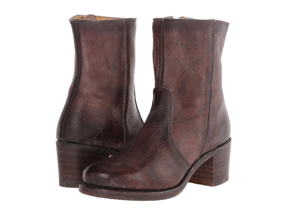 Frye - Sabrina Mid Inside Zip (Walnut Montana Stone Wash) Cowboy Boots