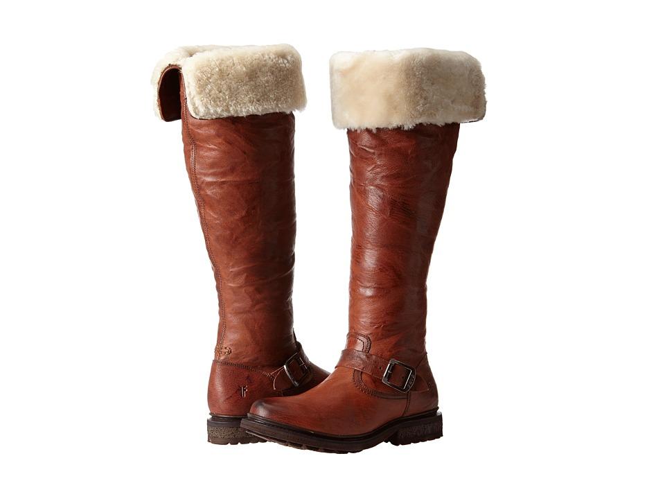 Frye - Valerie OTK (Cognac Antique Soft Vintage/Shearling) Cowboy Boots