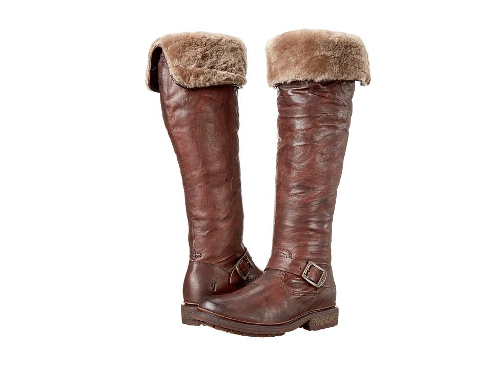 Frye Valerie OTK (Dark Brown Antique Soft Vintage/Shearling) Cowboy Boots