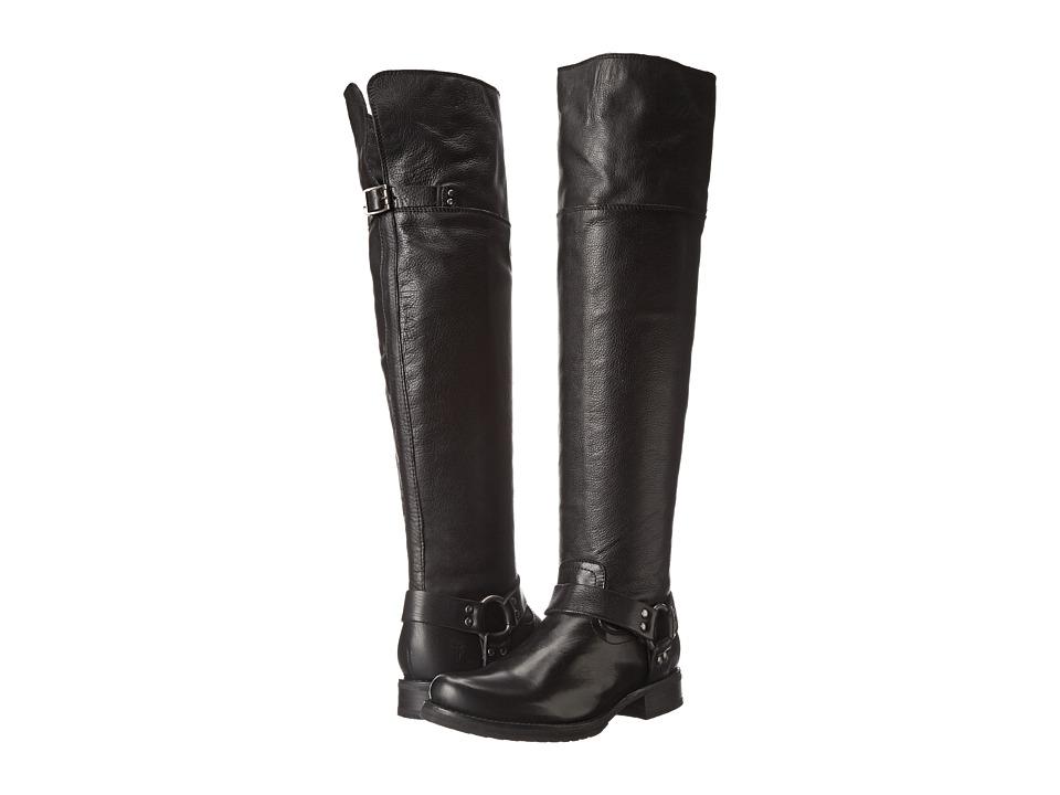 Frye - Veronica Harness OTK (Black Soft Vintage Leather) Cowboy Boots