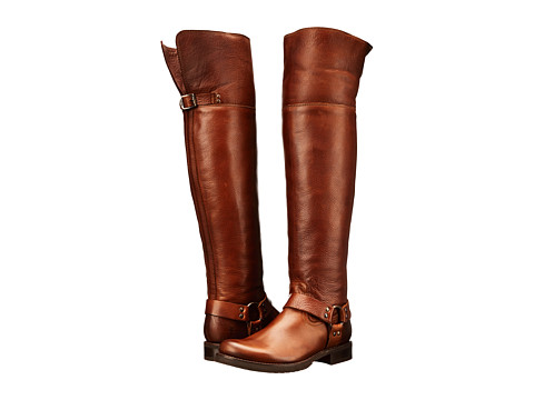 Frye - Veronica Harness OTK (Cognac Soft Vintage Leather) Cowboy Boots