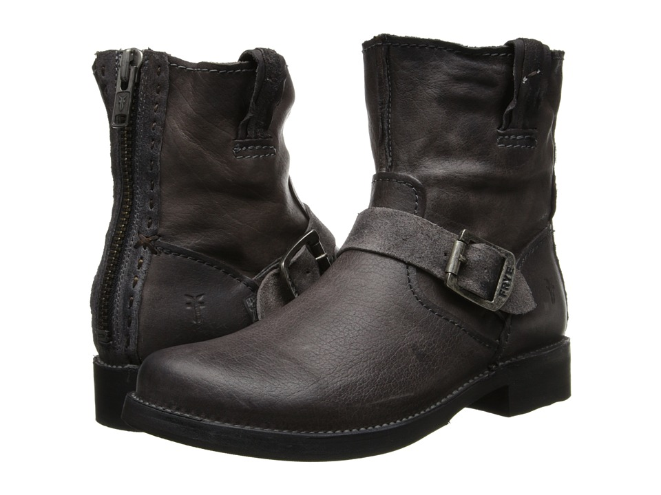Frye Vicky Artisan Back Zip (Charcoal Tumbled Full Grain) Cowboy Boots