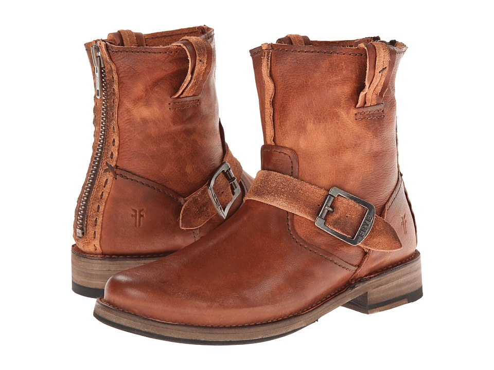 Frye - Vicky Artisan Back Zip (Whiskey Tumbled Full Grain) Cowboy Boots