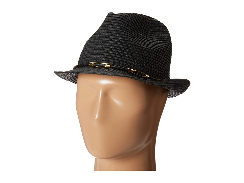 Vince Camuto - Metal Accented Fedora (Caviar) Caps