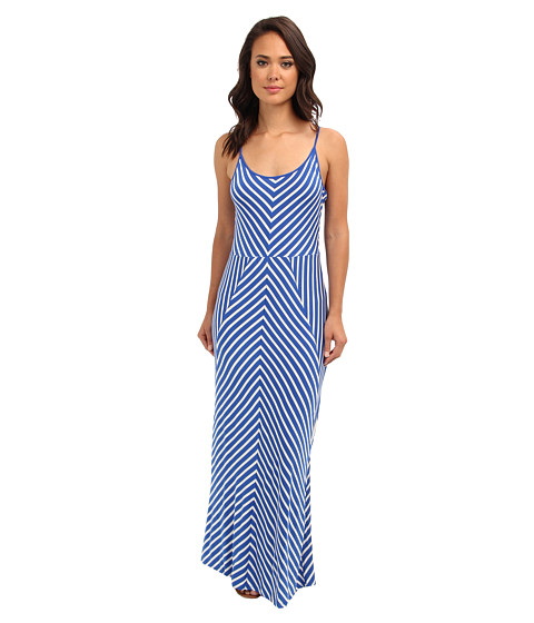 Brigitte Bailey - Sasha Maxi Dress (Harbor Blue/White) Women's Dress