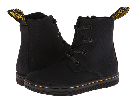 Dr. Martens Kid's Collection - Laney Lace Boot (Toddler) (Black Canvas) Girls Shoes