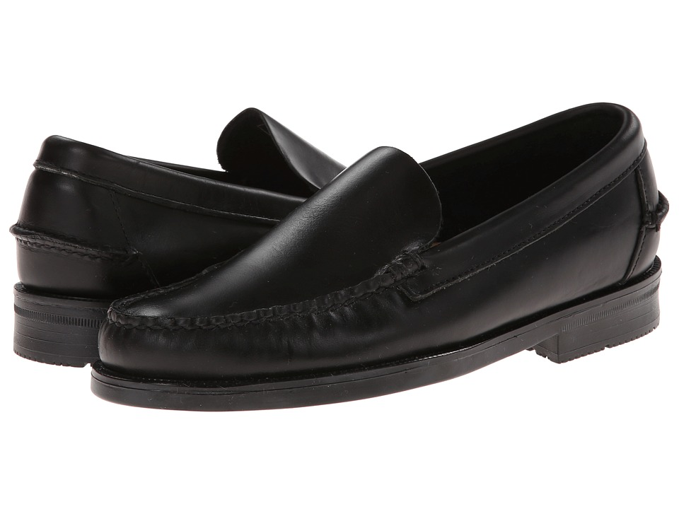 Sebago - Grant Venetian (Black Leather) Men's Shoes