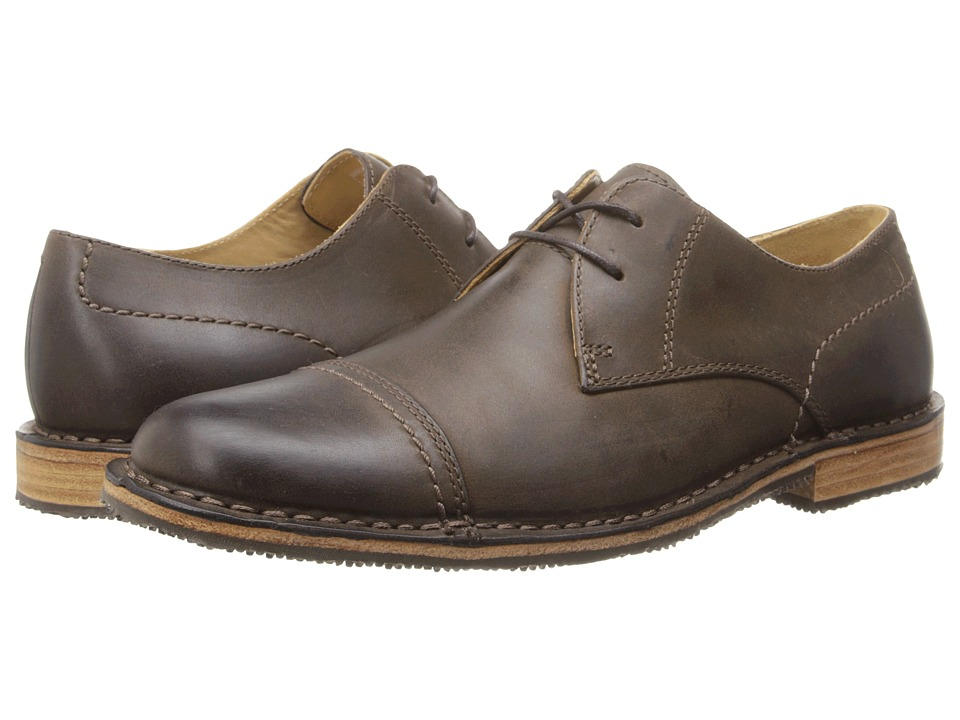 Sebago Metro Cap Toe (Dark Brown Leather) Men