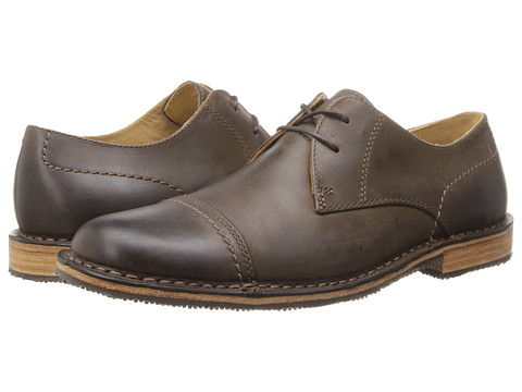 Sebago - Metro Cap Toe (Dark Brown Leather) Men's Lace Up Cap Toe Shoes