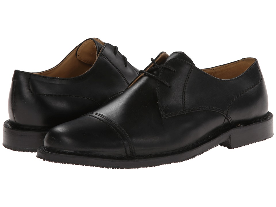 Sebago Metro Cap Toe (Black Leather) Men
