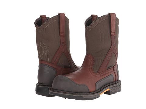 Ariat - Overdrive XTR Pullon H20 (Pebbled Brown/Dark Olive) Men's Work Boots
