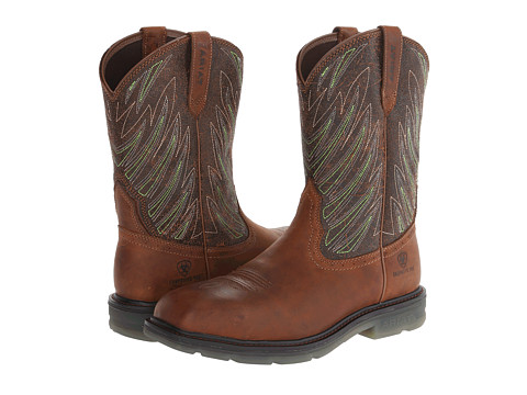 Ariat - Maverick Wide Square Toe Comp Toe (Desert/Brown) Men's Work Boots