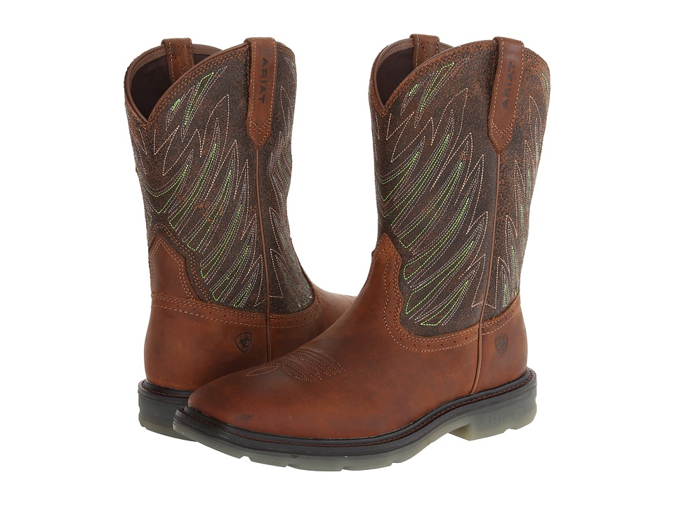 Ariat - Maverick Wide Square Toe (Desert Brown) Men's Work Boots