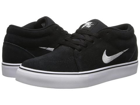 Nike SB Kids - Satire Mid (Big Kid) (Black/White) Boys Shoes