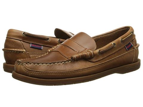 Sebago - Sloop (Cognac Leather) Men's Slip on Shoes