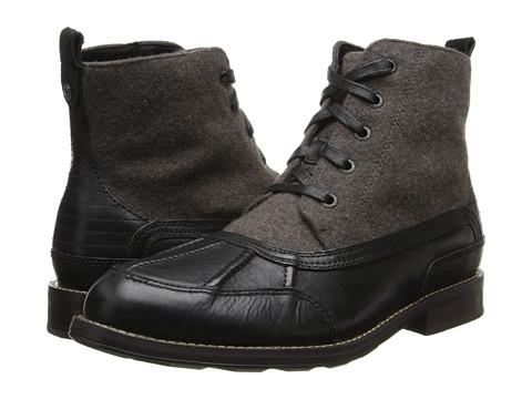 Sebago - Coburn Lace Mid (Black Leather/Grey Wool) Men