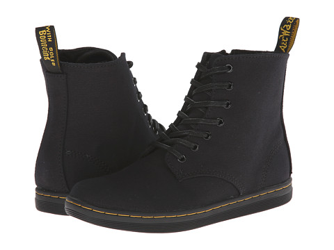 Dr. Martens Kid's Collection - Marley Lace Boot (Little Kid/Big Kid) (Black Canvas) Girls Shoes