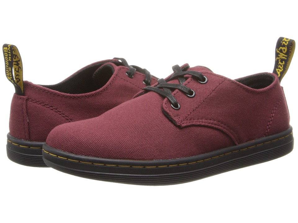 Dr. Martens Kid's Collection - Korey Lace Shoe (Little Kid/Big Kid) (Cherry Red Canvas) Girls Shoes