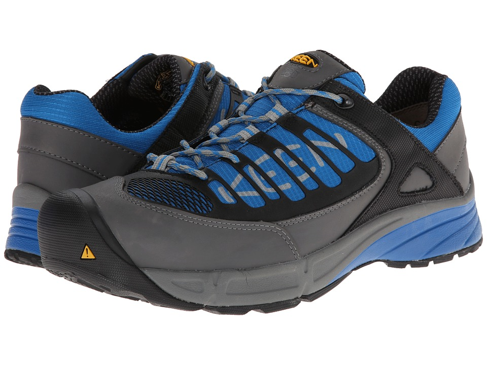Keen Utility - Aurora Low ESD (Gargoyle/Imperial Blue) Men's Shoes