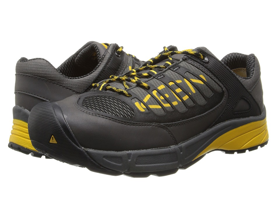 Keen Utility - Aurora Low ESD (Gargoyle/Yellow) Men's Shoes