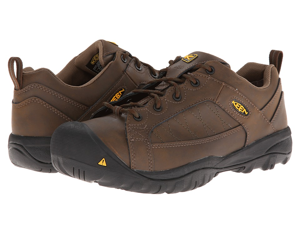 Keen Utility - Mesa ESD (Cascade Brown/Forest Night) Men's Work Lace-up Boots