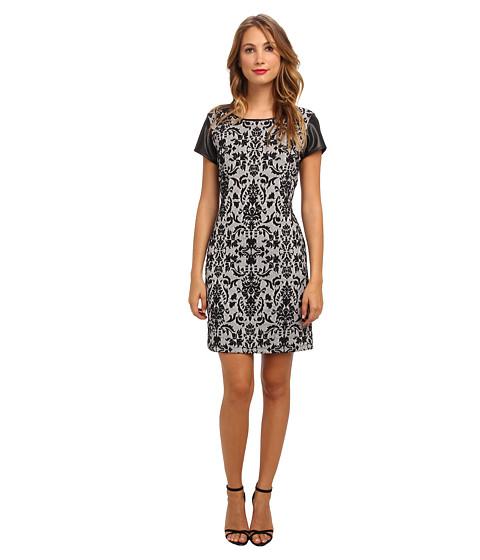 Apparel-rsvp Renee Dress (Black Grey) Women's Dress