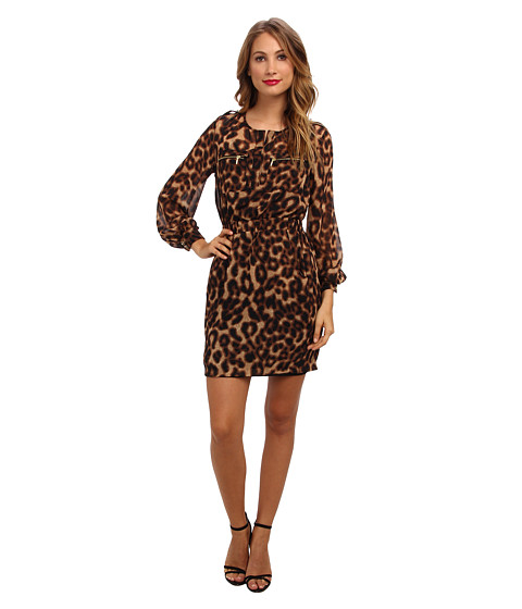 rsvp - Laina Dress (Black/Tan) Women's Dress