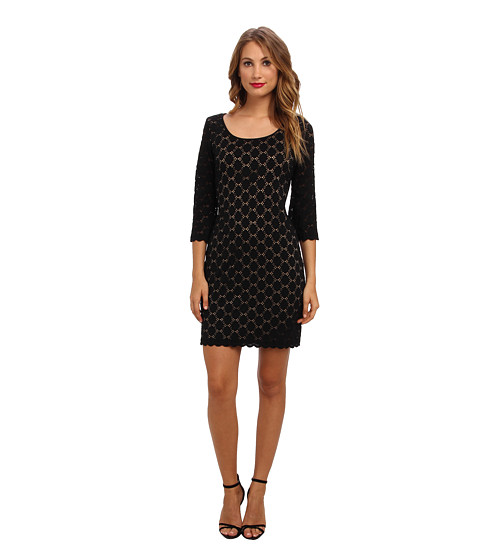 rsvp - Klaire Dress (Black/Nude) Women's Dress