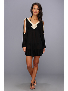 SALE! $62.99 - Save $81 on MINKPINK Avalon Crochet Kaftan Cover Up (Black) Apparel - 56.26% OFF $144.00