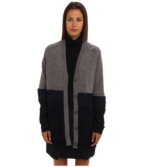 tibi - Mohair Sweaters Oversize Cardigan (Navy Multi) Women's Sweater