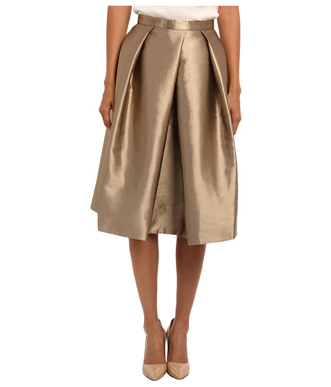 tibi - Halcyon Taffeta Full Skirt (Gold) Women's Skirt